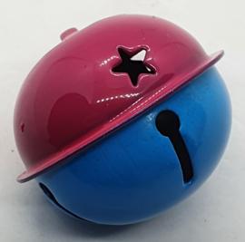Gekleurde Bellen met Sterren Donker Roze Blauw 40mm