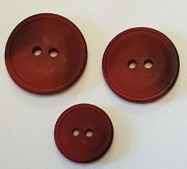 Bordeaux Rode met Randje Knoop 15, 20, 22 mm