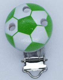 Houten Speenclip Voetbal Donker Groen