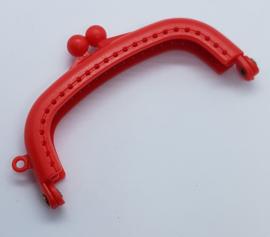 Kunststof Rode Portemonnee Sluiting  8,5 cm