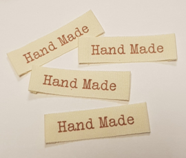 Katoenen Labels Hand Made 2 (10 stuks)