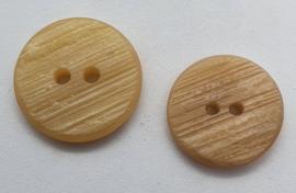 Creme Kleurige Bruine Knoop 18,20 & 23 mm
