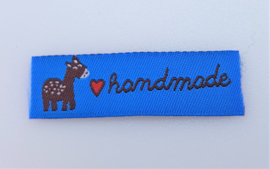 Blauwe Labels Handmade & Hertje 5,5x2cm (5 stuks)
