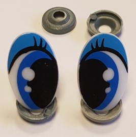 Veiligheids Ogen Blauw 16x25mm per paar