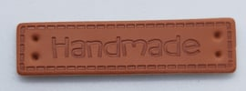 Leatherlook Hand Made labels 4 x 1 cm