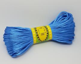20 Meter Blauw Satijn Koord Draad 2mm