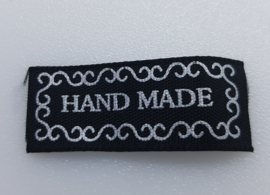 Zwart Label Hand made 3 x 1,6 cm (10 stuks)