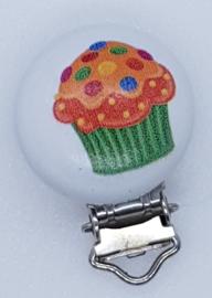 Houten Speenclip Cupcake 3