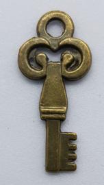 Sleutel Brons Kleurig 27 x 12mm