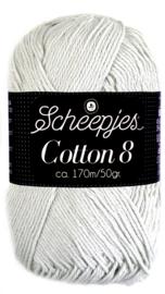Scheepjes Cotton 8 nr 700 Licht Grijs