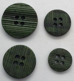 Groen Zwarte Knoop met ribbels 12,15,18 & 20mm