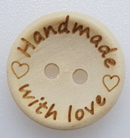 Blank Houten Handmade Knoop 18mm