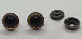 Veiligheidsogen Goud 14mm (2 stuks)