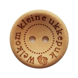 Blank Houten Knoop Kleine Ukkepuk 20mm (4 stuks)
