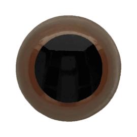Veiligheidsogen Bruin 6mm (2 stuks)