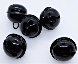 20mm Zwarte Belletjes (5 stuks)