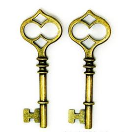 Sleutel Brons Kleurig 60 x 21mm