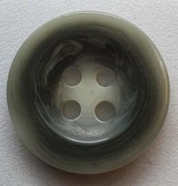 Grijs Witte Knoop 18mm