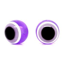 Boze oog kralen 8mm Paars