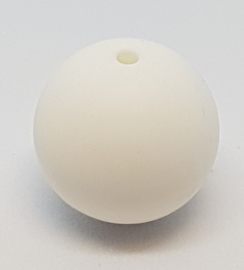 Witte Silicone Kraal 20mm