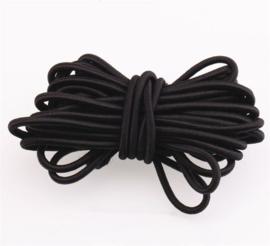 2mm Koord Elastiek Zwart - 1 Meter