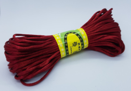 20 Meter Bordeaux Rood Satijn Koord Draad 2mm