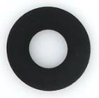 Siliconen Bijtring Rond 43mm - Zwart