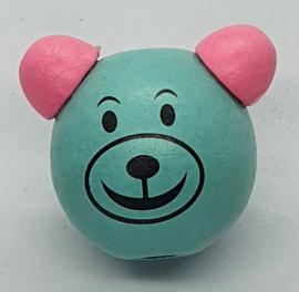 Beren Kraal Mint Groen & Roze