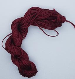 Nylon Koord 1mm - Bordeaux Rood - 22 Meter