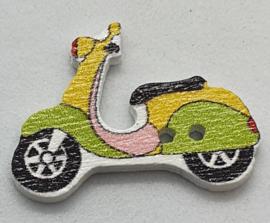 Scooter Knopen  Geel Groen