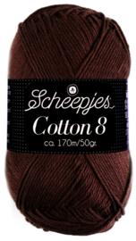 Scheepjes Cotton 8 nr 657 Donker Bruin