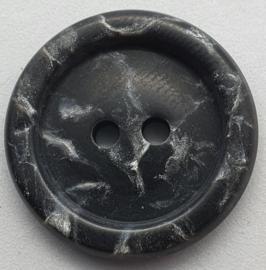 Donker Grijze met Witte Knoop 25mm
