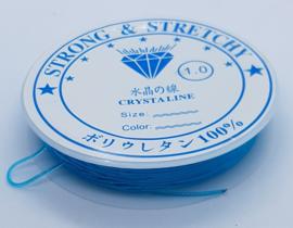 Elastiek 1 mm Blauw (4-5 Meter)