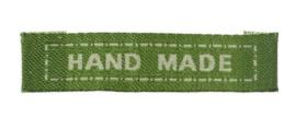 Groene Stoffen Handmade Labels 4,5 cm (5 Stuks)