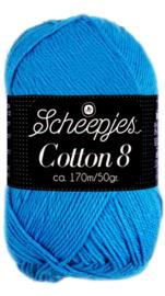 Scheepjes Cotton 8 nr 563 AquaBlauw