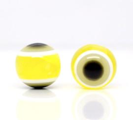 Boze oog kralen 8mm Geel
