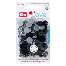 Prym Love Drukknopen 12,4 mm Grijs