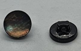 Parelmoer Knoop op zwart 11mm