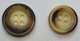 Beige Bruine Knoop 15 & 18mm