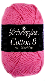 Scheepjes Cotton 8 nr 719 Fel Roze