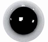 Veiligheidsogen Wit 15mm (2 stuks)
