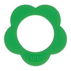 Opry Siliconen Bijtring Bloem 45mm - Donker Groen