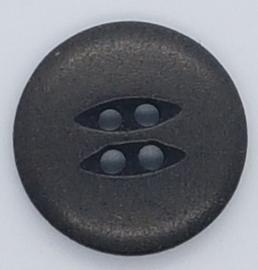 Zwarte Knoop Ovalen Gaatjes 20mm