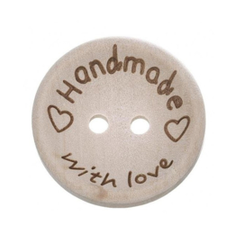 Blank Houten Handmade Knoop 20mm