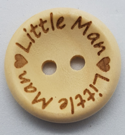 Blank Houten Knoop Little Man 20mm