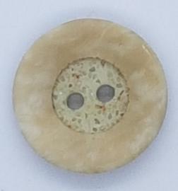 Beige Bruine Knoop met glitters 18 mm