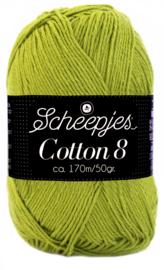 Scheepjes Cotton 8 nr 669 Olijf Groen