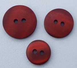 Donker Rode Knoop 13, 15 & 18 mm