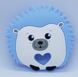Siliconen Bijtring - Egel Blauw