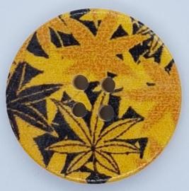 Knopen met Geel Zwarte Bladeren 30mm